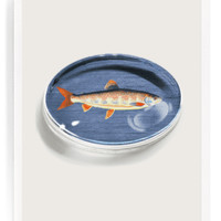 Vintage Fish No. 3 Crystal Oval Paperweight