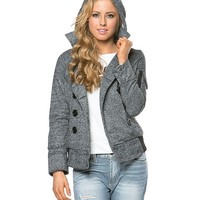 Double Breasted Utility Jacket in Gray