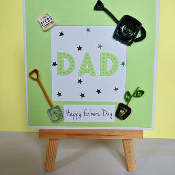 Fathers day card, quilled card, Dad card, card for Dad, greeting card, handmade card, happy Fathers day, father card, gardening card