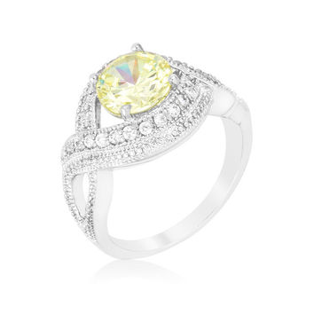Light Peridot Swirling Cocktail Ring - CLEARANCE