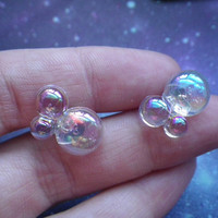Bubble earrings by lotusfairy on Etsy