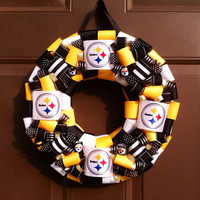 Pittsburgh Steelers Wreath Football Sports Gift for Him