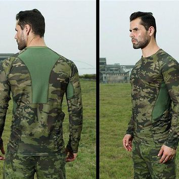 DCCKFS2 Outdoor ALL TERRAIN Camouflage Long Sleeve TShirt Military Tactical Tee Shirts Spring Summer Jogging Camping Hiking Hunting