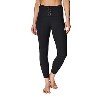 HIGH WAISTED LACE UP LEGGING: Betsey Johnson