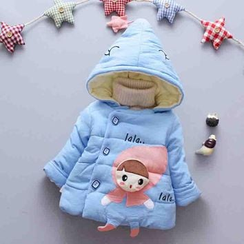 BibiCola 0-24 months Winter Newborn Baby Girls Coat Jacket 2018 New Cute Girl