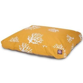Coral Rectangle Dog Bed бы Majestic Pet Products