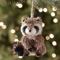 Natural Raccoon Ornament