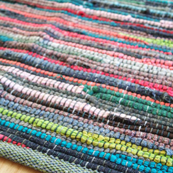 Rag Rug Bathroom Rugs Kitchen Swedish Small Multi Color Area