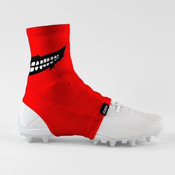 Smile Red Spats / Cleat Covers