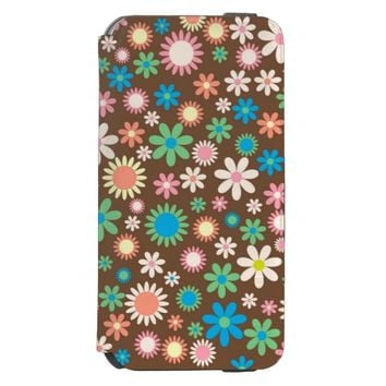 Elegant Pretty Vintage Floral Pattern Incipio Watson™ iPhone 6 Wallet Case