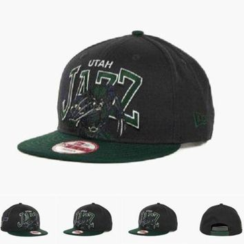 DCCKUN7 Utah Jazz Nba Chalk Up Hero Snapback 9fifty Cap Cap Snapback Hat - Ready Stock