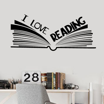 Vinyl Wall Decal Book Bookshop Library Reading Room Stickers Unique Gift (ig4511)