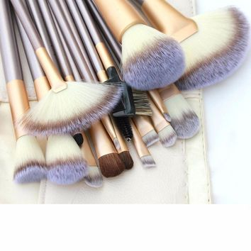 Makeup Brush Set - Beige