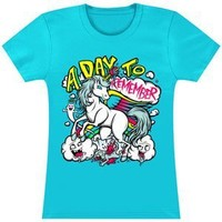 A Day To Remember Women's Unicorn Killing Spree Girls Jr Small Blue