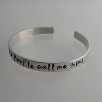 My favorite people call me Mimi / Hand Stamped bracelet / Hand Stamped cuff for Grandmother / Grandmother Bracelet
