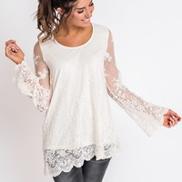 Stayton Lace Top (Ivory)