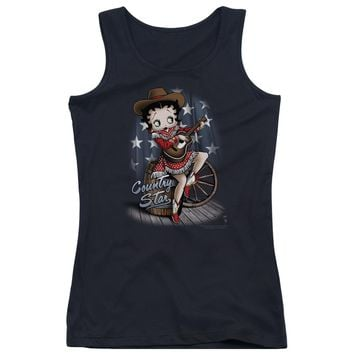 Betty Boop - Country Star Juniors Tank Top