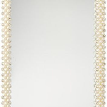 Harry D Koenig Faux Pearl and Rhinestone Mirrored Vanity Tray