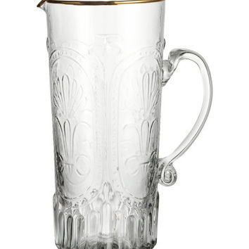 Relief-patterned Glass Jug - from H&M