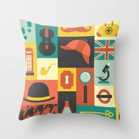 Sherlock Throw Pillow by Ariel Wilson
