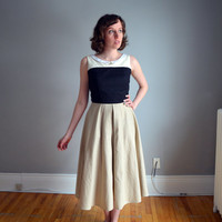 NEW. The Aurora Dress. Disney Day Dress Collection. Cream, Black, Brown, White. 1950s Vintage Inspired. XS - XL. Petite. Tall.
