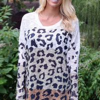 Color Block Cheetah Animal Print Tunic