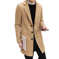 Men's Single Breasted Peacoat