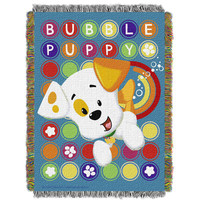 Bubble Guppies Puppy Pop  Woven Tapestry Throw (48inx60in)