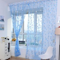 Warm Print Floral Bedroom Home Curtain curtains for living room