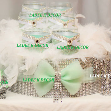 Cake Stand With Tulle Bow and Tassel Wedding Sweet 16 Quinceanera