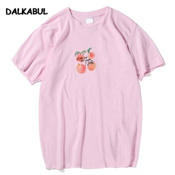 Call Me By Your Name Peach T shirt Summer O Collar Men Funny Tee Fashion Harajuku Size 3XL Top Short Sleeve HipHop T-Shirt