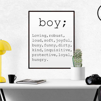 DEFINITION OF BOY Gift for Son Gift For Boys Love quote Funny Definition word definition Funny Definition Birthday Gift For Son Printable
