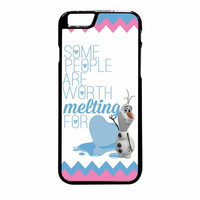 Olaf Quote Melting The Disney Frozen Pink Blue Chevron iPhone 6 Plus Case