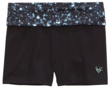 PRINTED WAISTBAND YOGA SHORTS | GIRLS DANCEWEAR & GYMNASTICS ACTIVEWEAR | SHOP JUSTICE