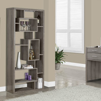 "Dark Taupe Reclaimed-Look 72""H Bookcase"