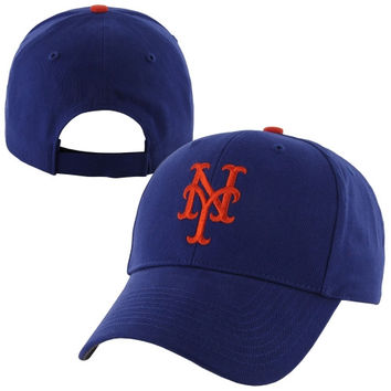 47 Brand New York Mets Youth Basic Structured Hat - Royal Blue - http://www.shareasale.com/m-pr.cfm?merchantID=7124&userID=1042934&productID=544539014 / New York Mets