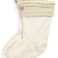 Hunter Short 'Moss' Knit Welly Socks