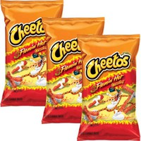 Cheetos Flamin' Hot Crunchy Cheese Flavored Snacks, 8.5 oz (Pack of 3) - Walmart.com
