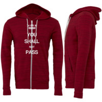 You Shall Not Pass Zipper Hoodie