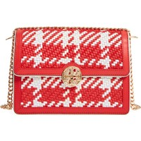 Tory Burch Duet Woven Leather Shoulder Bag | Nordstrom