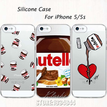 Tumblr Nutella Case For iPhone 5 5S Soft Silicone Clear with design Phone Back Cover Fundas Coque