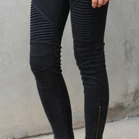 Uptown Moto Leggings - Black