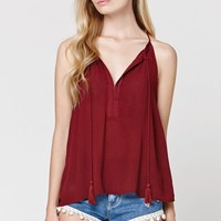 LA Hearts Notch Neck Tunic Tank - Womens Shirts