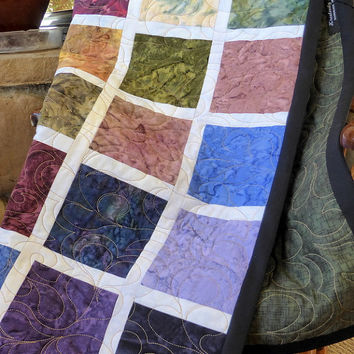 Colorful Lap Quilt - Handmade Baby Quilt