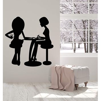 Vinyl Wall Decal Nail Beauty Salon Service Manicure Pedicure Stickers (2850ig)