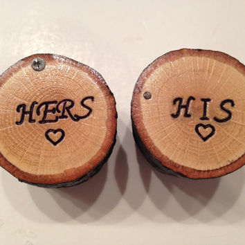 Personalized Jewelry Box , Wood Ring Box , His. and Hers Couple Jewelry Box , Wedding Ring Box , Ring Bearer