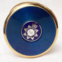 Powder Compact, Stratton Compact, Mirror Compact, Stratton Powder Compact, Police, Ministry Of Defence, Blue, British - 1980s