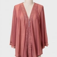 Rhapsody Lace Detail Curvy Plus Blouse