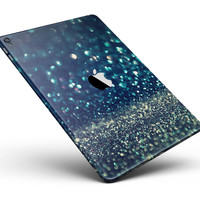 """Navy and Gold Unfocused Sparkles of Light Full Body Skin for the iPad Pro (12.9"""" or 9.7"""" available)"""