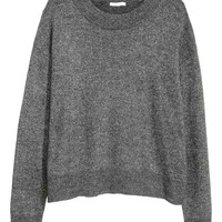 Fine-knit jumper - Grey/Glitter - Ladies | H&M GB